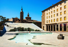 Fuente de la Hispanidad  in Zaragoza, Spain Royalty Free Stock Photography