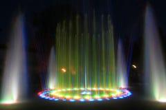 Fuente de la noche Foto de archivo
