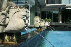 Fuente de la piscina Fotografía de archivo