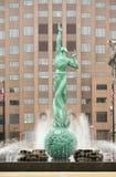 Fuente de la plaza conmemorativa Cleveland Ohio de los veteranos de la vida eterna Imágenes de archivo libres de regalías