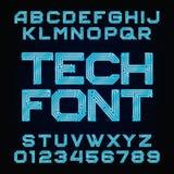 Fuente de la tecnología Alfabeto del vector Foto de archivo libre de regalías