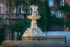 Fuente de Las Utopias Fountain - Rosario, Santa Fe, Argentinien lizenzfreie stockfotografie
