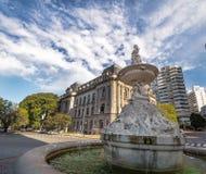 Fuente de Las Utopias Fountain - Rosario, Santa Fe, Argentinien Stockfotografie