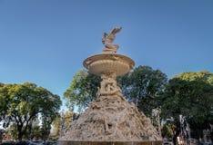 Fuente de Las Utopias Fountain - Rosario, Santa Fe, Argentinien Stockbilder