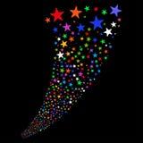 Fuente de los fuegos artificiales de la estrella Fotografía de archivo