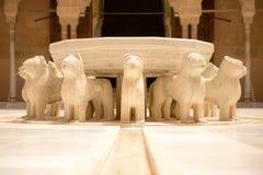 Fuente de los leones Fotografía de archivo libre de regalías