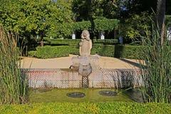 Fuente de los leones de Maria Luisa Park en Sevilla imagen de archivo libre de regalías