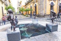 The Fuente De Los Ninos Miones in Guadalajara Royalty Free Stock Images