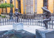 The Fuente De Los Ninos Miones in Guadalajara Royalty Free Stock Photography