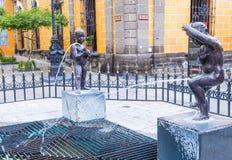 Fuente De Los Ninos Miones w Guadalajara Zdjęcia Royalty Free