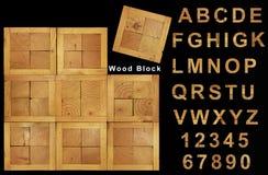 Fuente de madera de la textura Imagen de archivo