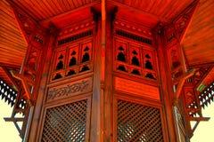 Fuente de madera de Sebilj en Sarajevo, Bosnia fotos de archivo libres de regalías