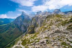 Fuente De mountains in Cantabria Spain. Fuente De mountains in Camaleno Cantabria of Spain stock photography