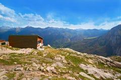 Fuente De mountains in Cantabria Spain. Fuente De mountains in Camaleno Cantabria of Spain royalty free stock photo