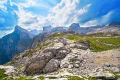 Fuente De mountains in Cantabria Spain. Fuente De mountains in Camaleno Cantabria of Spain royalty free stock image