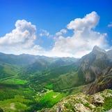 Fuente De mountains in Cantabria Spain. Fuente De mountains in Camaleno Cantabria of Spain stock image
