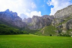 Fuente De mountains in Cantabria Spain. Fuente De mountains in Camaleno Cantabria of Spain stock photos