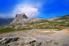 Fuente De mountains in Cantabria Spain. Fuente De mountains pena Vieja in Camaleno Cantabria of Spain stock photo