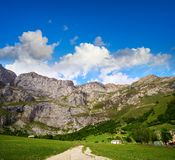 Fuente De mountains in Kantabrien Spanien lizenzfreie stockfotografie