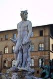 Fuente de Neptuno en el della Signoria de la plaza Imagen de archivo libre de regalías
