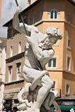 Fuente de Neptuno en la plaza Navona, Roma foto de archivo