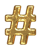 Fuente de oro. Sostenido del símbolo. Imágenes de archivo libres de regalías