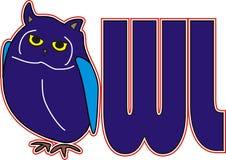 Fuente de Owl Blue Bird Animal imagenes de archivo