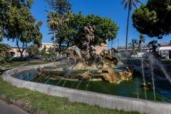 Fuente de Proserpine en Catania, Sicilia, Italia Foto de archivo libre de regalías