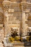 Fuente de Rimondi Rethymno Crete, Grecia imagen de archivo