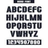 Fuente de sans serif con los contornos Fotografía de archivo
