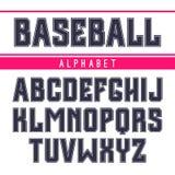 Fuente de sans serif en el estilo del deporte Imagen de archivo libre de regalías