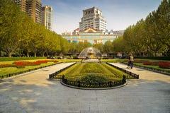 Fuente de Shangai en el parque Imagen de archivo libre de regalías