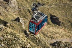 Cable Car in Fuente de, Picos de Europa mountains, Cantabria, Spain. Fuente De, Spain - February 17, 2017 : Cable Car in Fuente de, Picos de Europa mountains stock photos