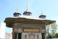 Fuente de Sultan Ahmet III en Estambul Imagenes de archivo