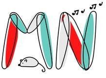 Fuente de vector de Accendent Alfabeto del niño con el ejemplo ilustración del vector
