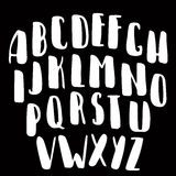 Fuente de vector caligráfica Tipografía moderna de la caligrafía del estilo manuscrito del cepillo Imagen de archivo