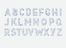 Fuente de vector del ABC del alfabeto Mecanografíe las letras Lowpoly stock de ilustración