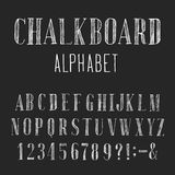 Fuente de vector del alfabeto de la pizarra Fotografía de archivo libre de regalías