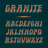 Fuente de vector del granito Letras fuertes del alfabeto Cartas latinas Fotos de archivo