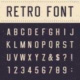 Fuente de vector retra del alfabeto Imágenes de archivo libres de regalías