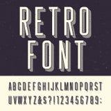 Fuente de vector retra del alfabeto Foto de archivo libre de regalías