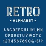 Fuente de vector retra del alfabeto Ilustración del Vector