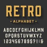 Fuente de vector retra del alfabeto Stock de ilustración