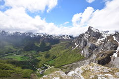 Fuente de. View from the cable car station at Fuente De in the Picos de Europa Northern Spain stock photo