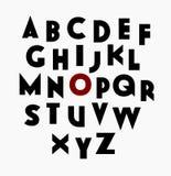 Fuente decorativa de sans serif Foto de archivo