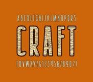 Fuente decorativa de sans serif con textura de madera Fotos de archivo