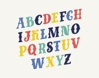 Fuente decorativa del vector Tipo retro del vintage Letras caligráficas escritas mano ilustración del vector