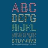 Fuente decorativa Handdrawn de sans serif Imagenes de archivo