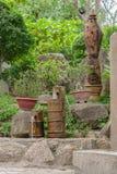 Fuente del agua potable en parque Imagenes de archivo