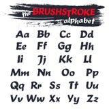 Fuente del alfabeto de la pincelada Estilo del Grunge Alfabeto de la tipografía para sus diseños Imagenes de archivo